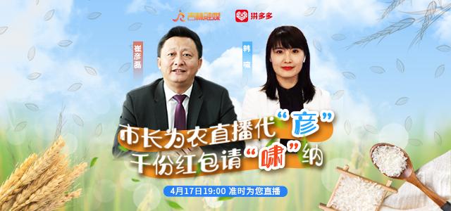 梅河口市市长崔彦磊拼多多直播首秀化身主播电商扶贫为梅河臻品代言